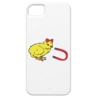 L homme de la dame drôle d aimant de poussin coques Case-Mate iPhone 5
