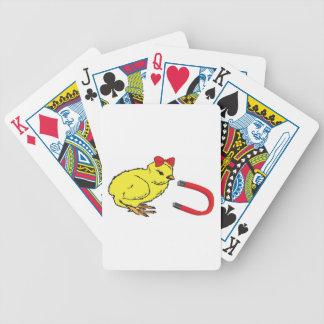 L homme de la dame drôle d aimant de poussin cartes bicycle poker