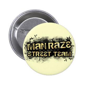 L homme rasent l équipe de rue ronde - jaune badges
