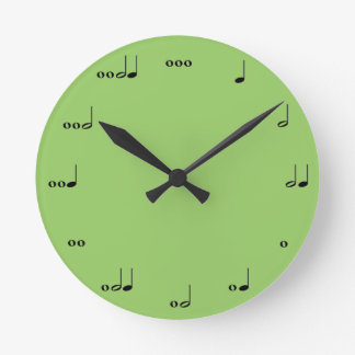 L horloge de note de musique originale