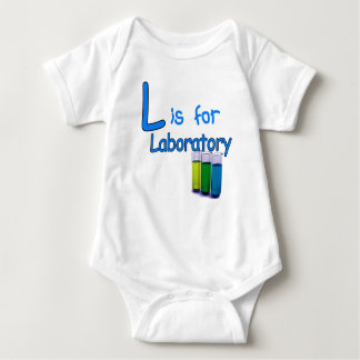 L is for Laboratory Baby Bodysuit
