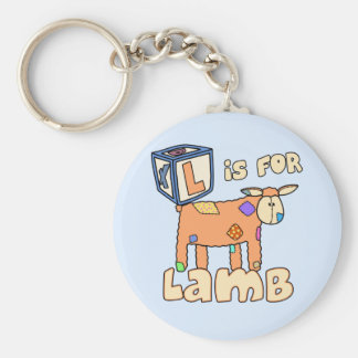L is for Lamb Keychain