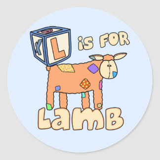 L is for Lamb Stickers