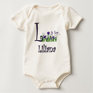 L is for Liliana Cute Spring Flowers T-shirt