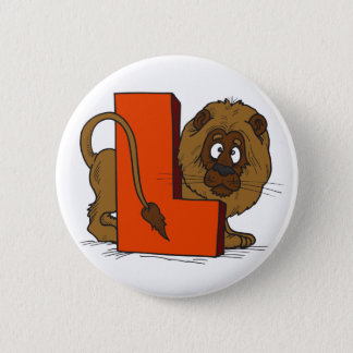 L Is for Lion 2 Inch Round Button