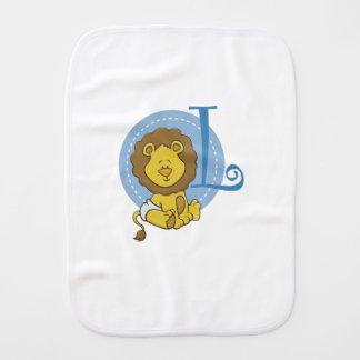 L is for Lion Burp Cloth