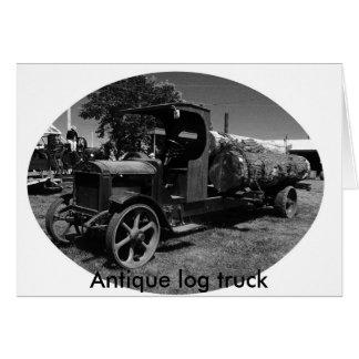 l log truck1, Antique log truck Card