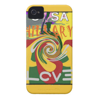 l Love Hillary USA President Stronger Together red iPhone 4 Case-Mate Cases