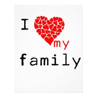 l love my family letterhead