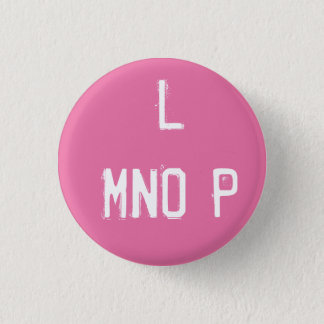 'L MNOP' Alphabet Collectible (#12) 1 Inch Round Button