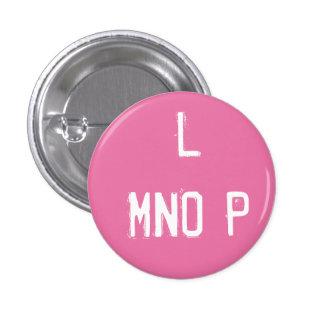 'L MNOP' Alphabet Collectible (#12) 1 Inch Round Button