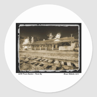 L&N Passenger Depot Classic Round Sticker
