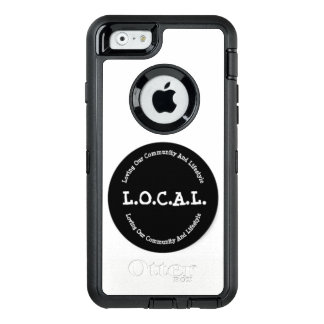 L.O.C.A.L. Black And White iPhone 6 Otter Case