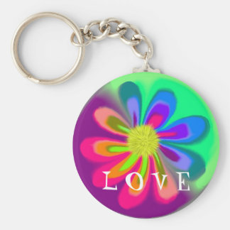 L  O V E  Flower Keychain