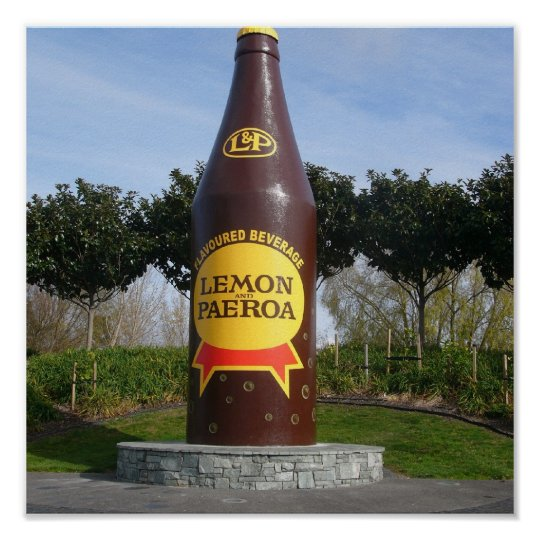 L&P Bottle, Paeroa Poster