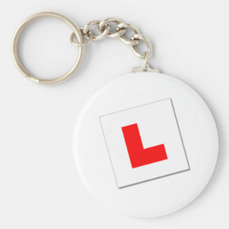 L Plates (red/white) Keychain