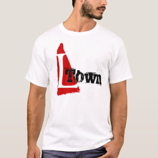 L-Town L names RED MARK DESIGN T-Shirt NICKNAME