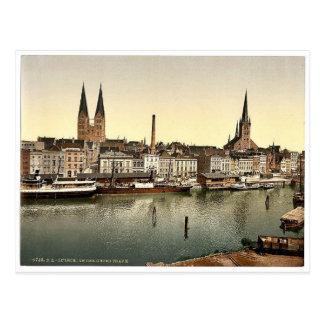 L Unter Trave près de Holsenthor Lübeck Allemag Cartes Postales