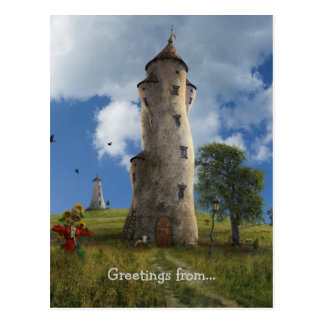 La Aldea, Greetings from... | Surreal Village Postcard
