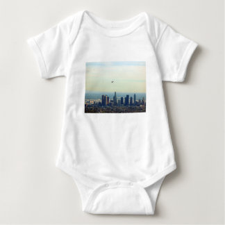 LA and helo Baby Bodysuit