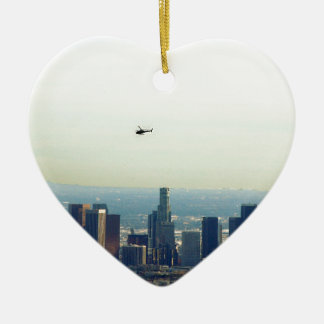 LA and helo Ceramic Ornament