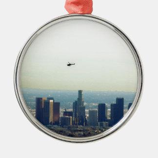 LA and helo Metal Ornament