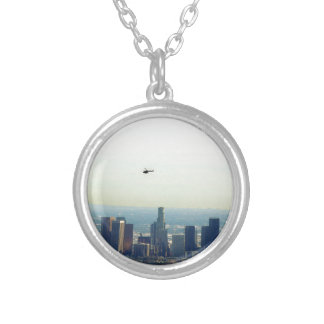 LA and helo Silver Plated Necklace