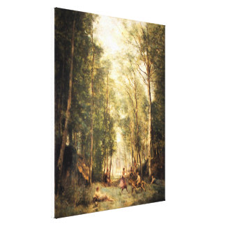La Bacchanal by Corot Canvas Print