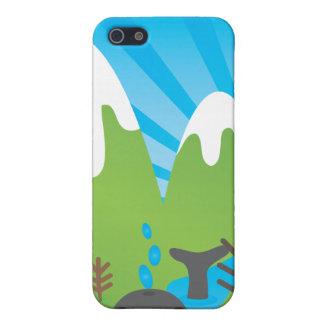 La baleine folle a perdu dans le coque iphone d'en iPhone 5 case