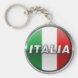 La Bandiera - The Italian Flag Basic Round Button Keychain
