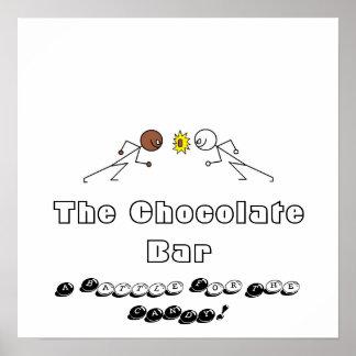La barre de chocolat affiche