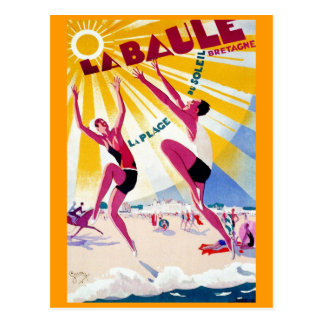 La Baule Vintage French Travel Poster Postcard