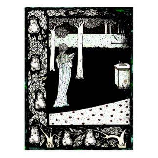 La Beale Isolde Reading in the Garden Postcard
