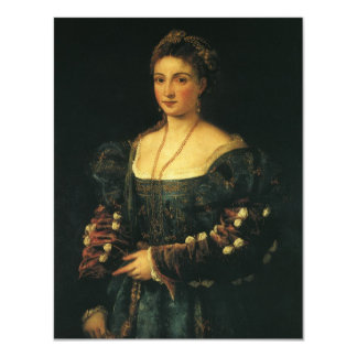 "La Bella, Duchess of Urbino by Titian 4.25"" X 5.5"" Invitation Card"
