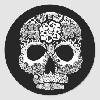 La Bella Muerte Dark Round Sticker