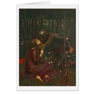 La Belle Dame Sans Merci, 1893 (oil on canvas) Greeting Card