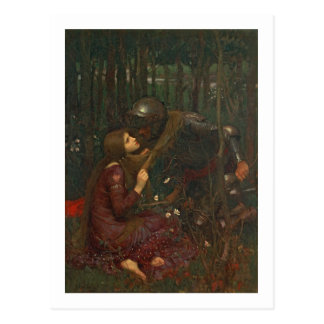 La Belle Dame Sans Merci, 1893 (oil on canvas) Postcard