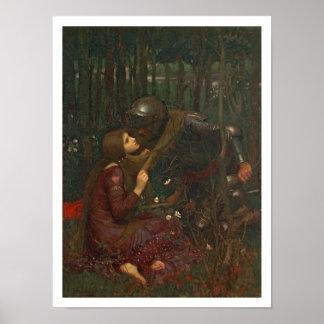 La Belle Dame Sans Merci, 1893 (oil on canvas) Poster