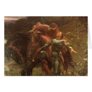 La Belle Dame sans Merci by Sir Frank Dicksee Card