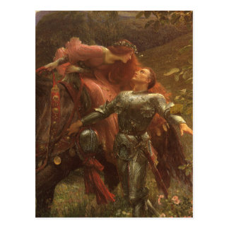 La Belle Dame sans Merci, Dicksee, Victorian Art Postcard