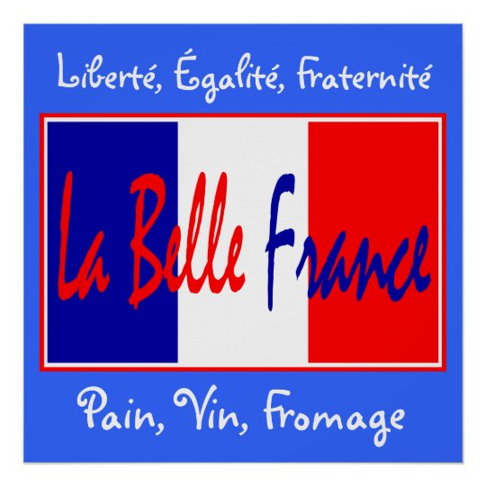 La Belle France - for Bistro, Wine Bar, Kitchen! Poster