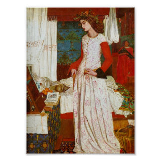 La Belle Iseult | Queen Guenevere, William Morris Poster