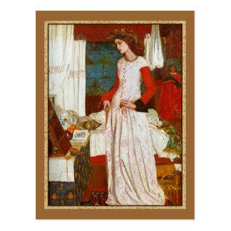 La Belle Iseult  ~  William Morris Postcard