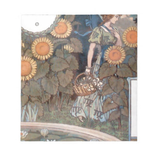 La Belle Jardiniere – August - Eugène Grasset Notepad