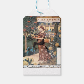 La Belle Jardiniere – Septembre - Eugène Grasset Gift Tags