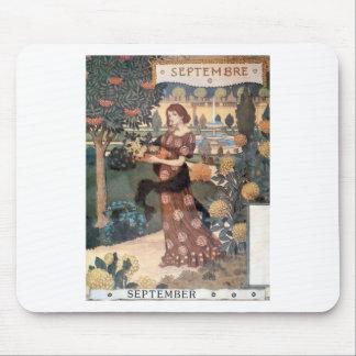 La Belle Jardiniere – Septembre - Eugène Grasset Mouse Pad