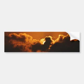 La bénédiction de Dieu au coucher du soleil Autocollant De Voiture