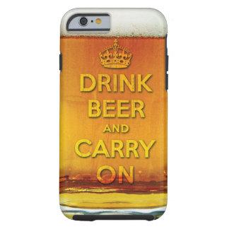 La bière drôle de boissons et continuent coque tough iPhone 6
