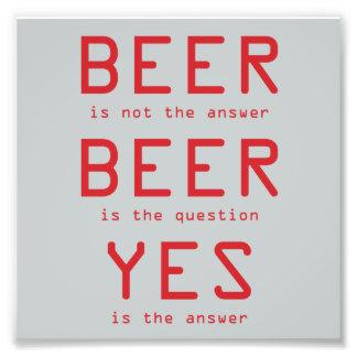 La bière n'est pas la copie rouge de photo