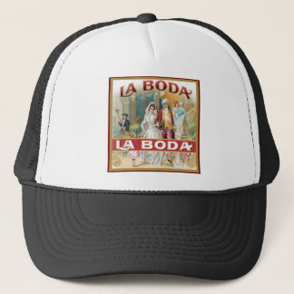 La Boda Vintage Cigar Label Trucker Hat